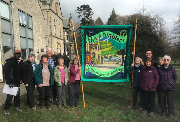 Ramblers Banner Outside Youth Hostel